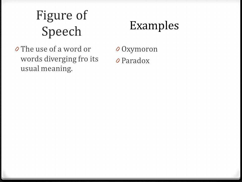 as english figures of speech Figures of speech provoke a thought process and bring depth to the language to be able to use them well is an art, which can be mastered over time the more you read, the more you will be able to understand.