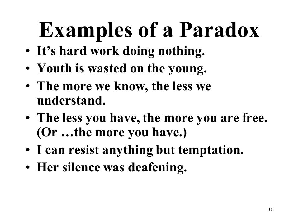 Examples Of Paradox In Sentences Images Example Cover Letter For