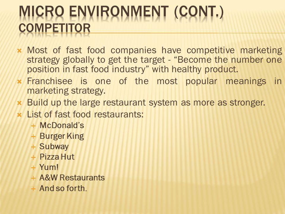 marketing plan for subway restaurant