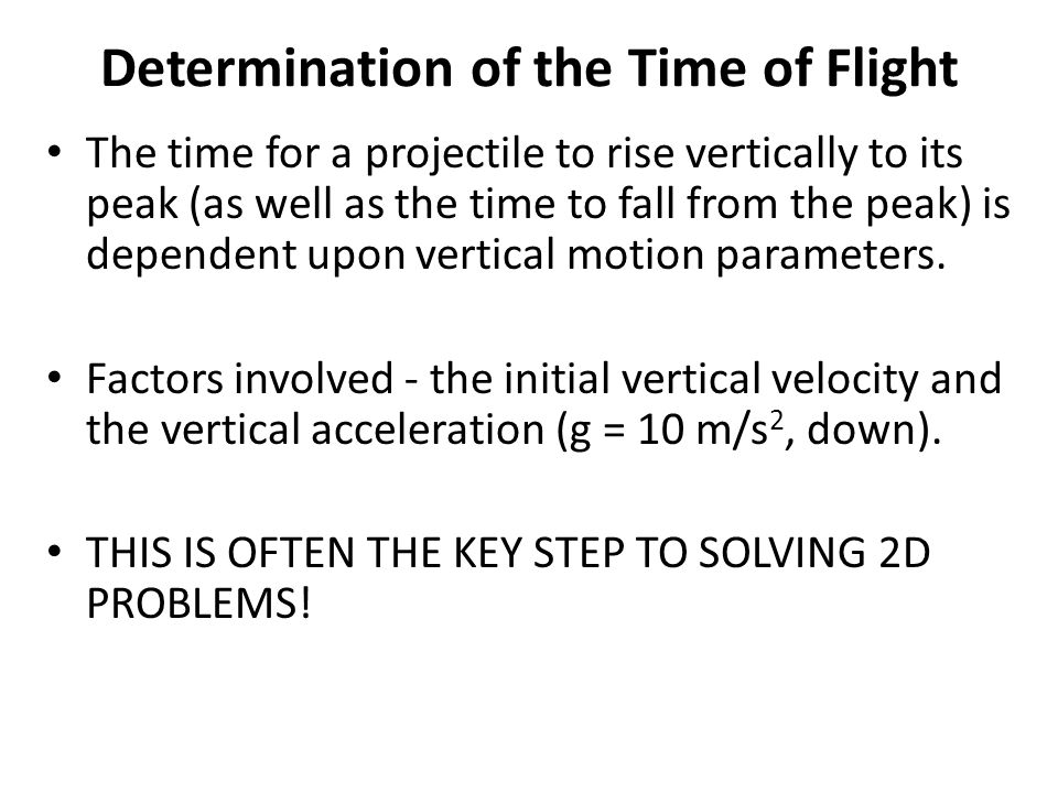 Determination of the Time of Flight