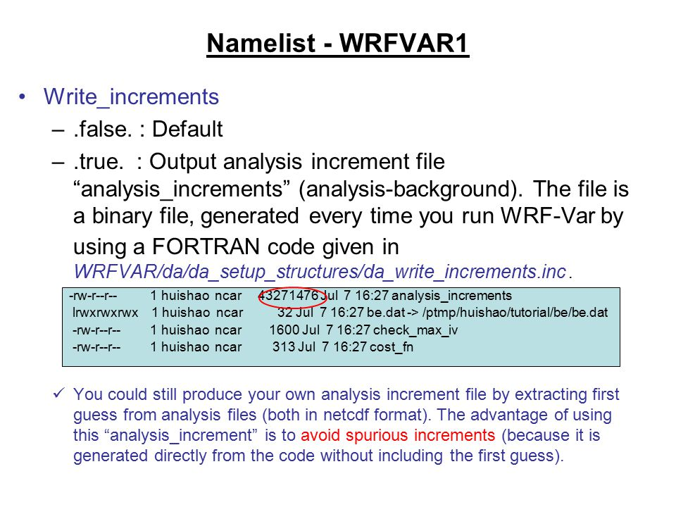 WRF-Var Namelists, Diagnostics, and Tools - ppt download