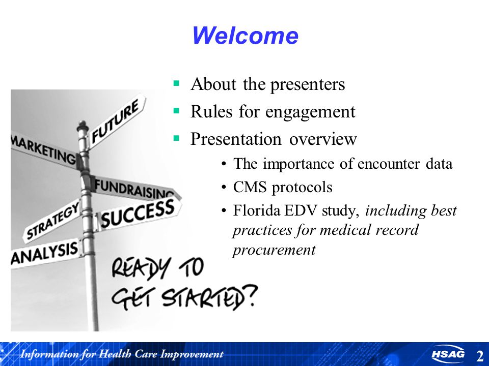 Welcome About the presenters Rules for engagement
