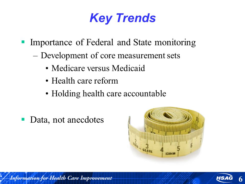 Key Trends Importance of Federal and State monitoring