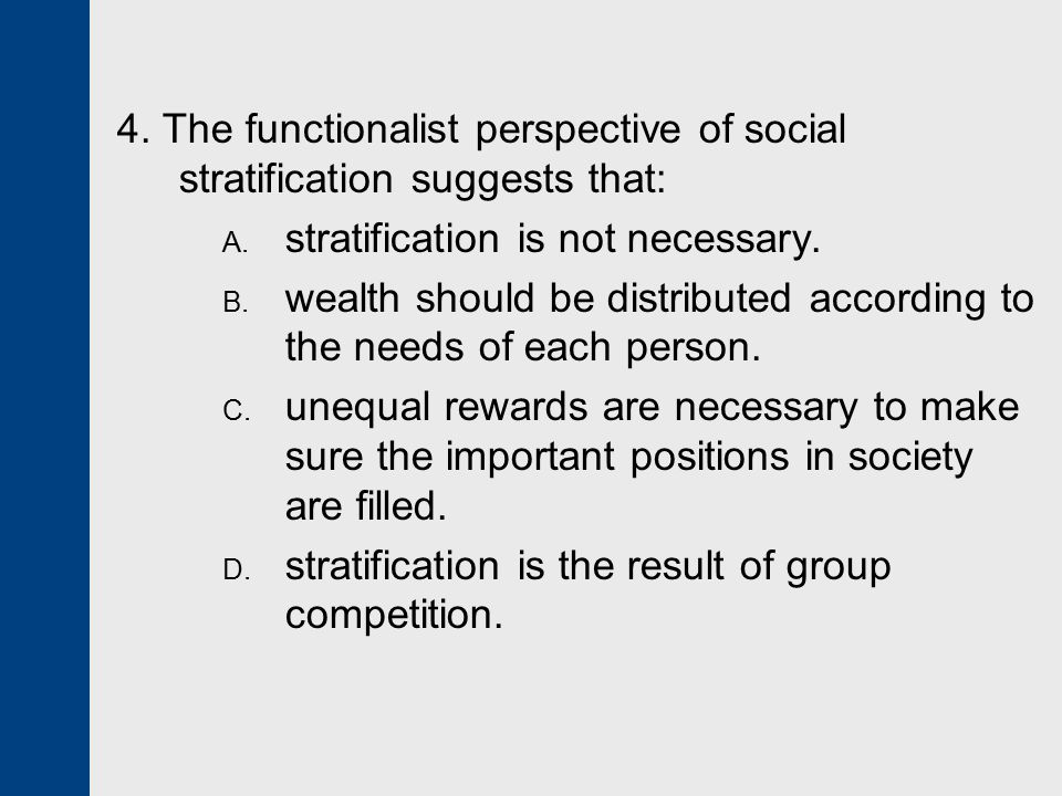 is social stratification necessary