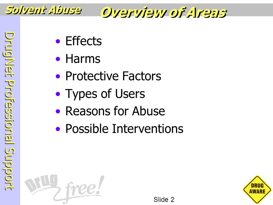 Overview of Areas Effects Harms Protective Factors Types of Users