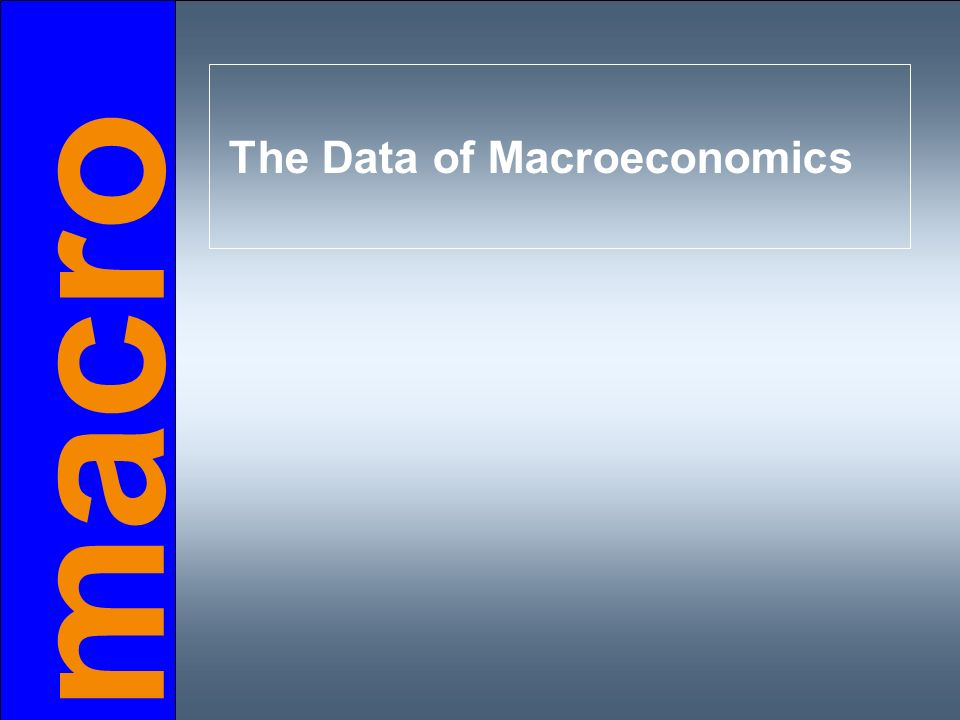 Do you remember… …the meaning and measurement of the most important macroeconomic statistics Gross Domestic Product (GDP)