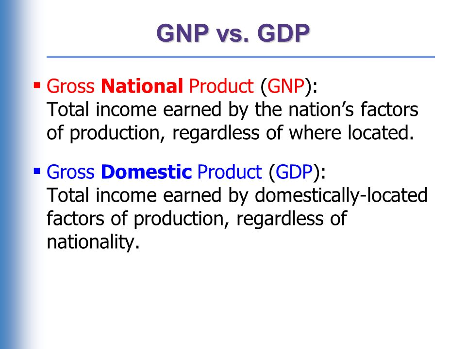 In your country, which would you want to be bigger, GDP, or GNP