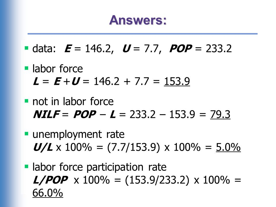 Exercise: Compute percentage changes in labor force statistics