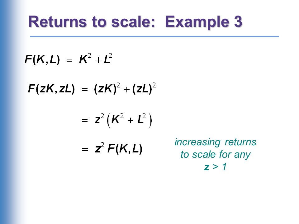 NOW YOU TRY: Returns to Scale