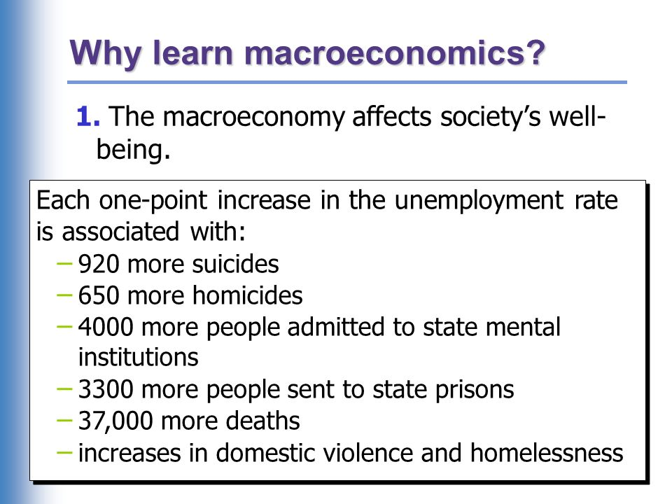 Why learn macroeconomics