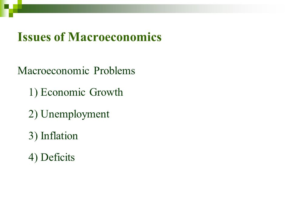 Issues of Macroeconomics