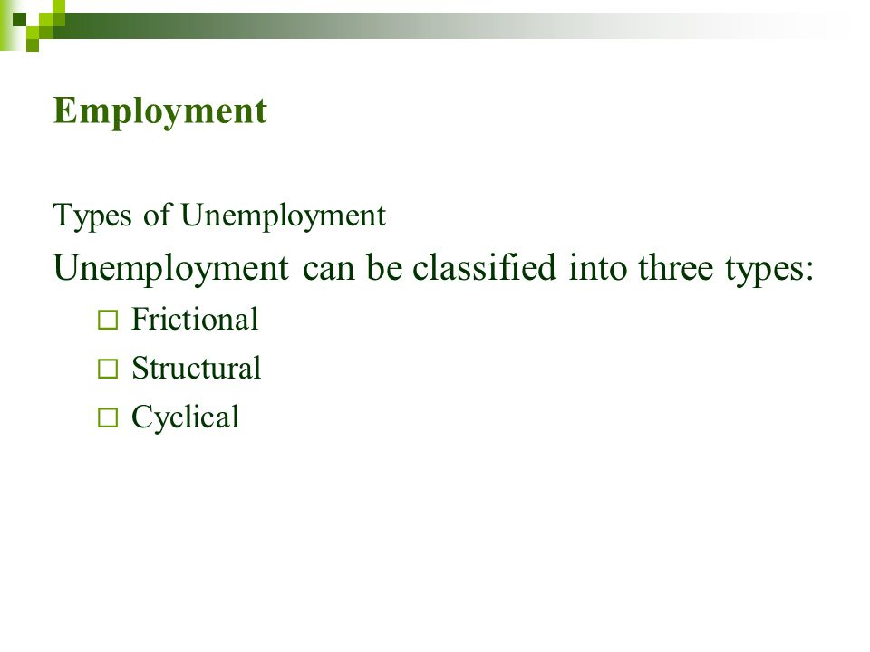 Unemployment can be classified into three types: