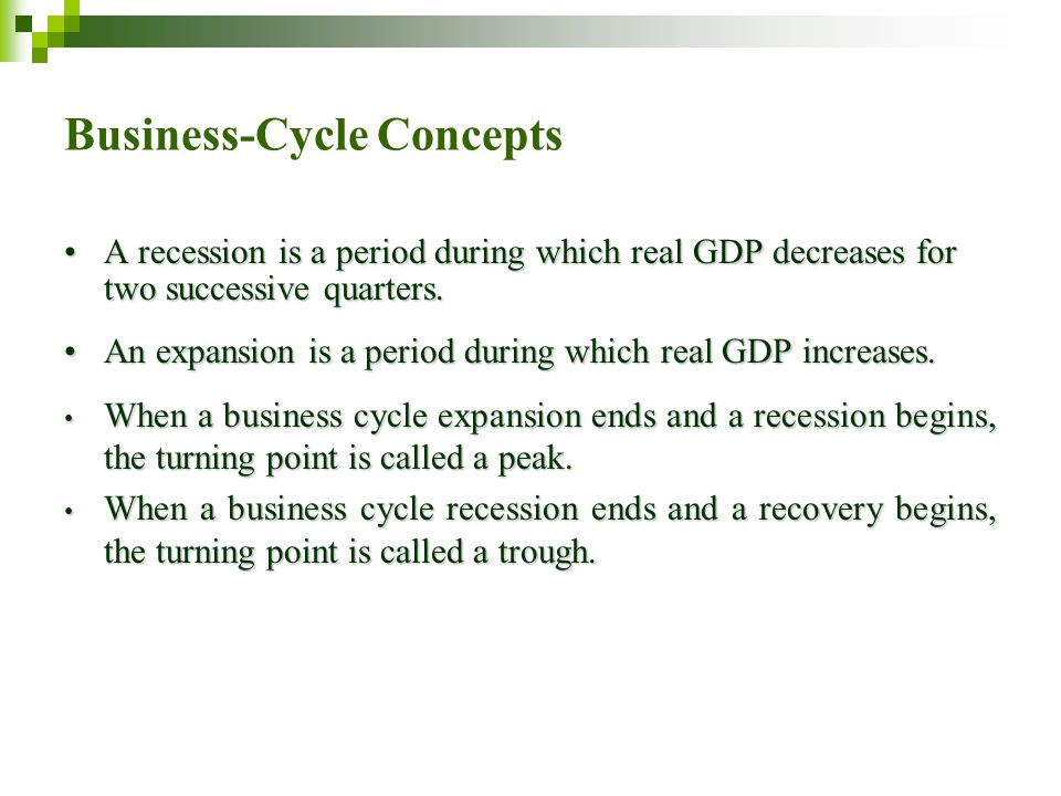 Business-Cycle Concepts