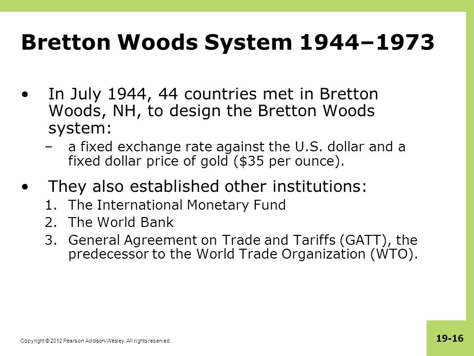 International Monetary Systems An Historical Overview Ppt Download