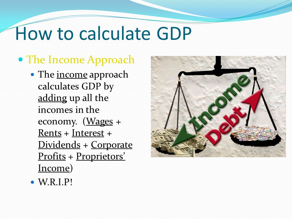 How to calculate GDP The Income Approach