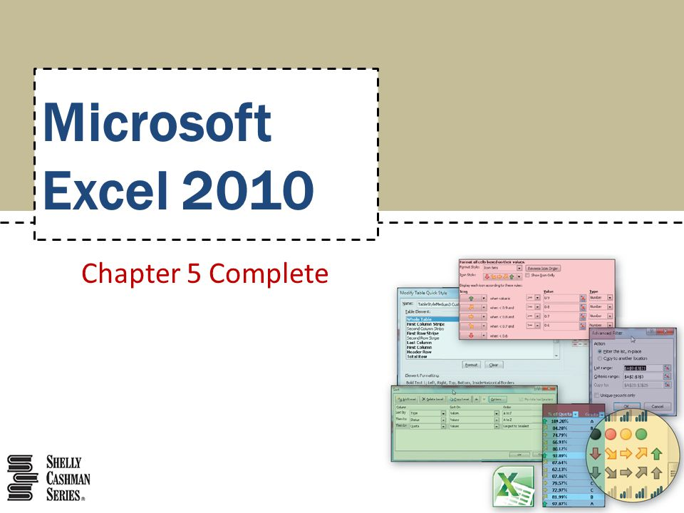 Microsoft Excel 2010 Chapter 5 Complete