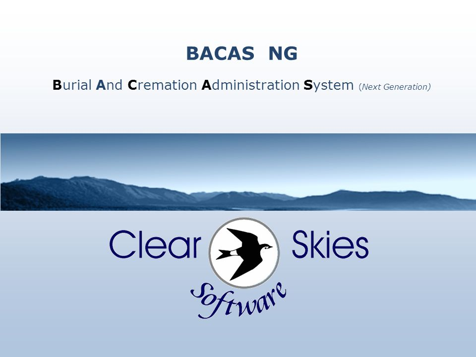 BACAS NG Burial And Cremation Administration System (Next Generation)