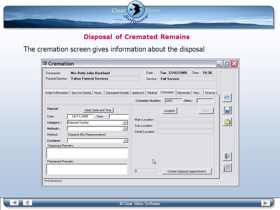 Disposal of Cremated Remains