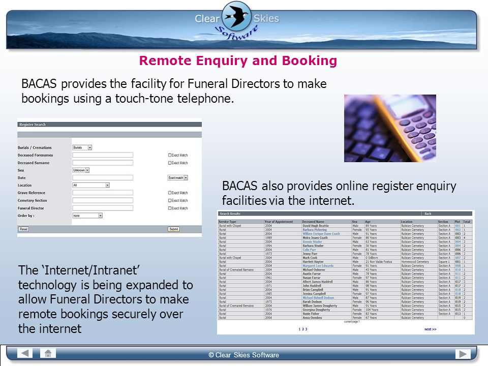 Remote Enquiry and Booking