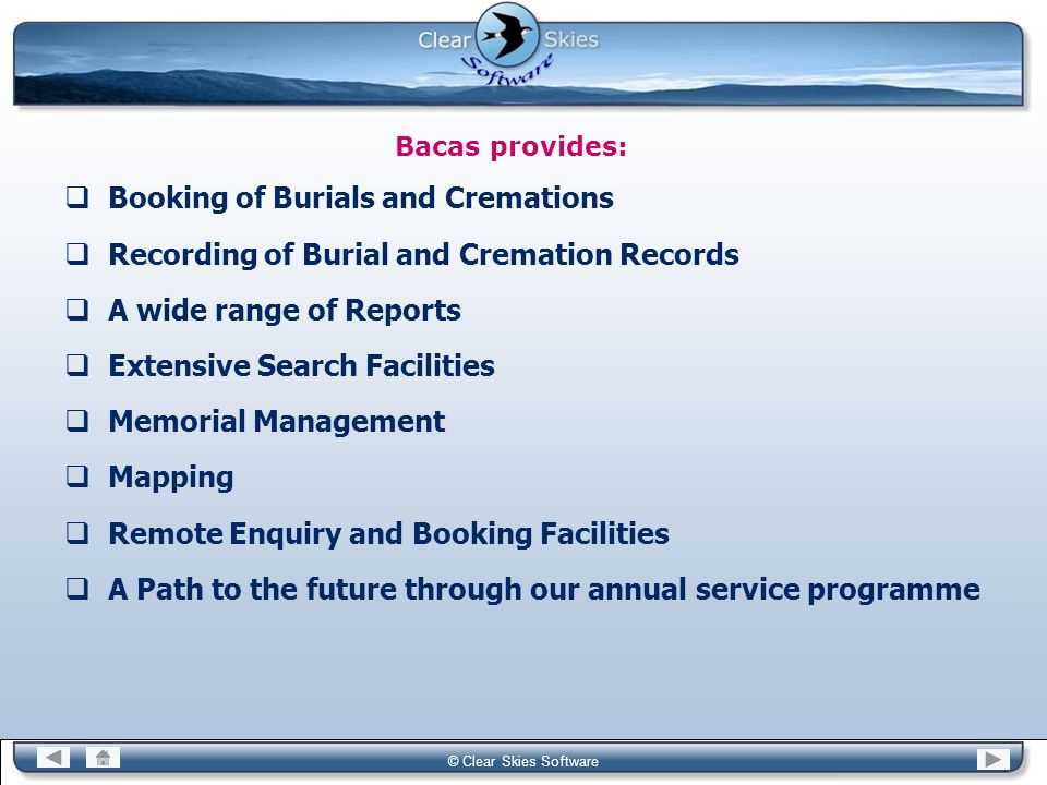 Booking of Burials and Cremations