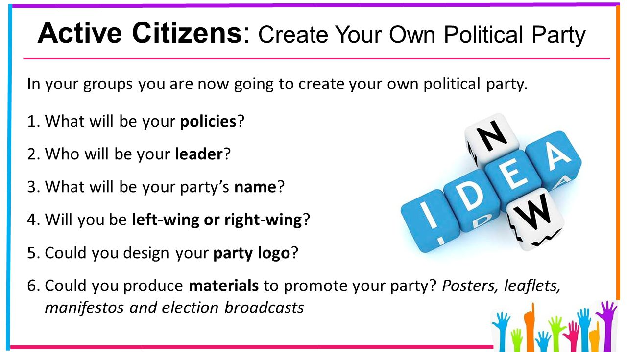 How to Create a Political Party forecasting