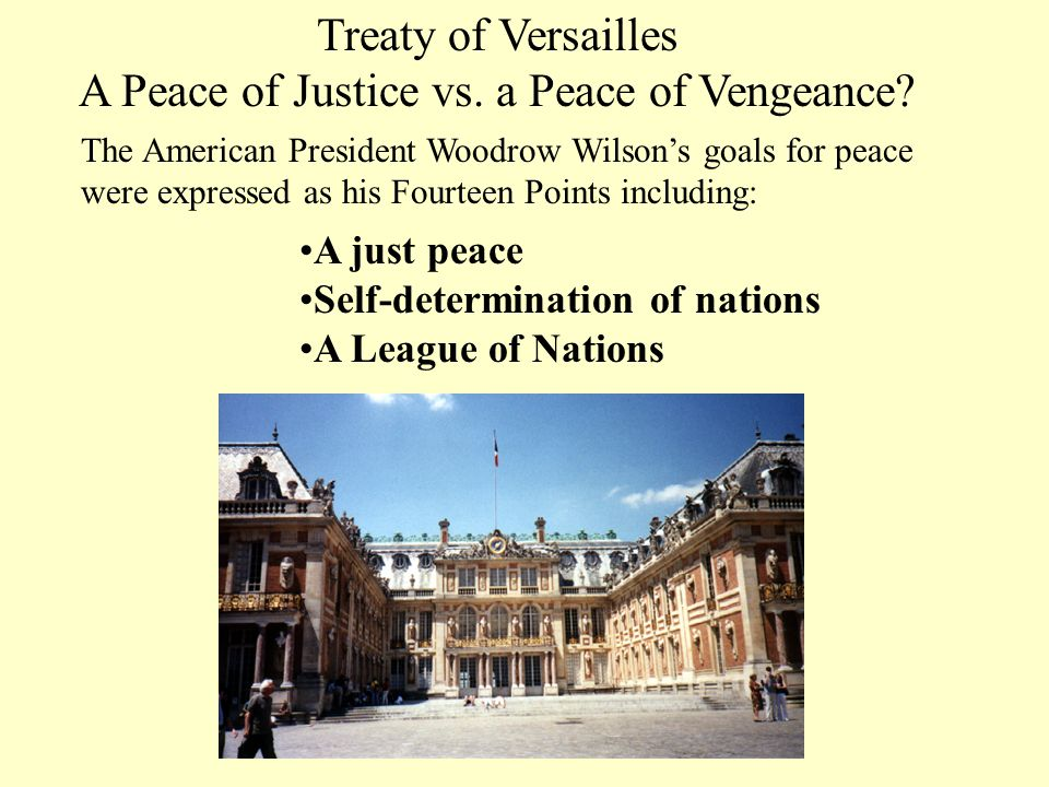 A Peace of Justice vs. a Peace of Vengeance