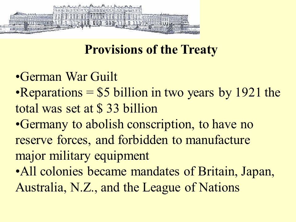 Provisions of the Treaty