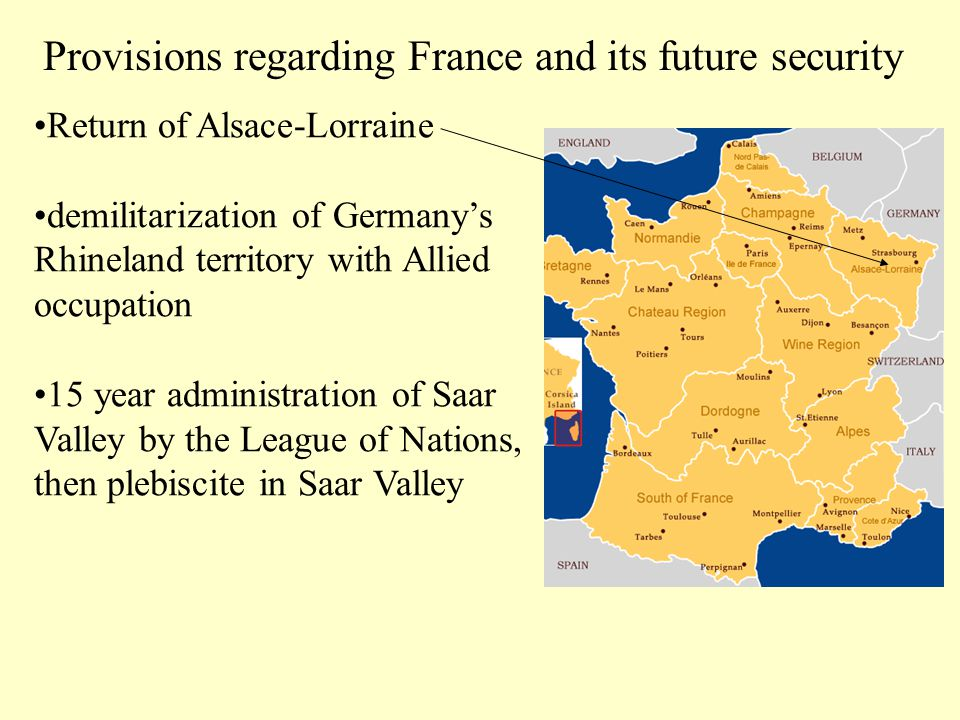 Provisions regarding France and its future security
