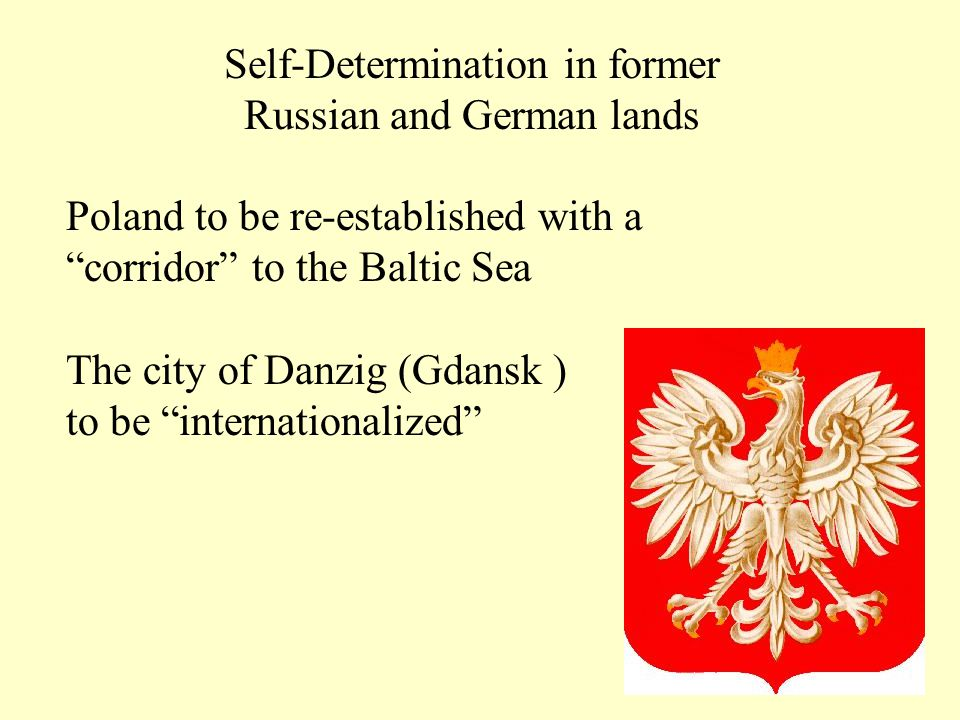 Self-Determination in former Russian and German lands