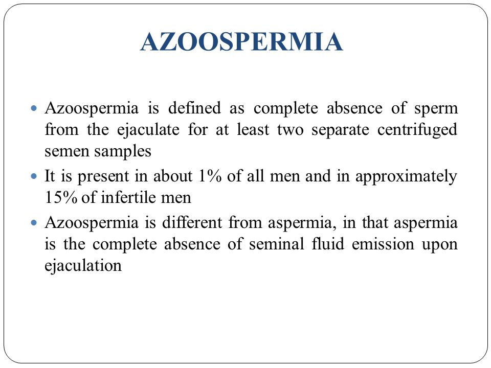 Absense of sperm definition images