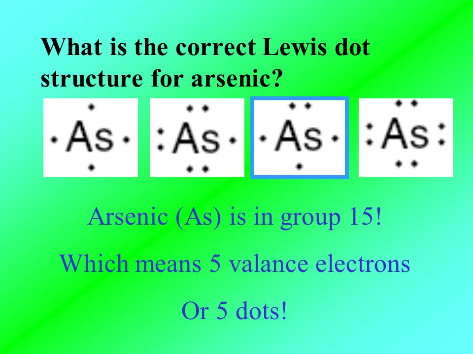 The Dot Diagram For Arsenic Diy Wiring Diagrams