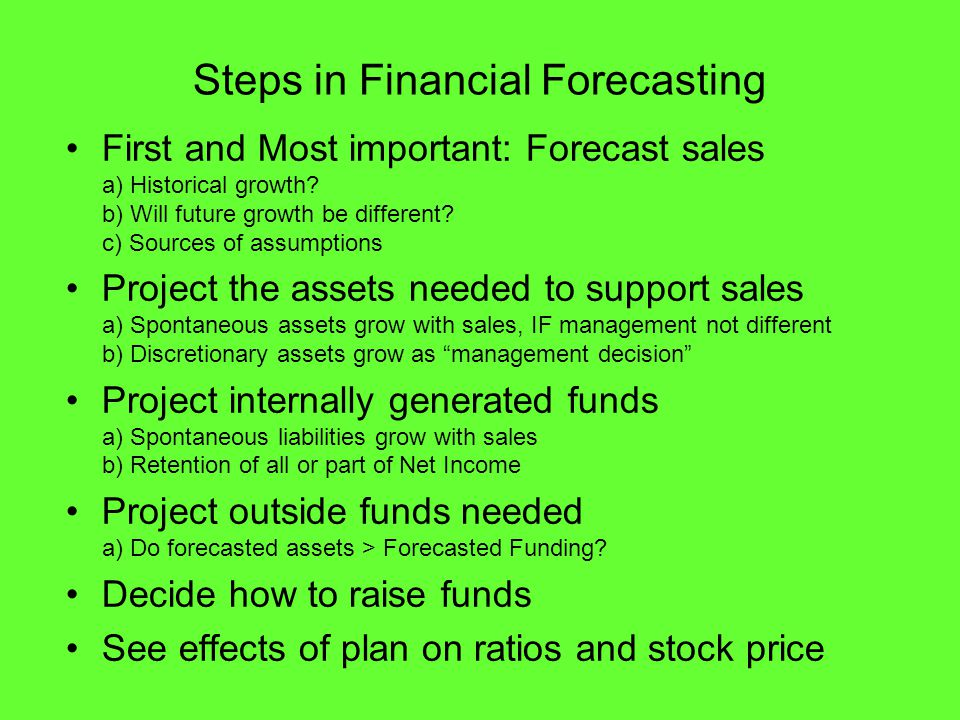 Forecasting Financial Statements  Part I: Financing Needs - ppt