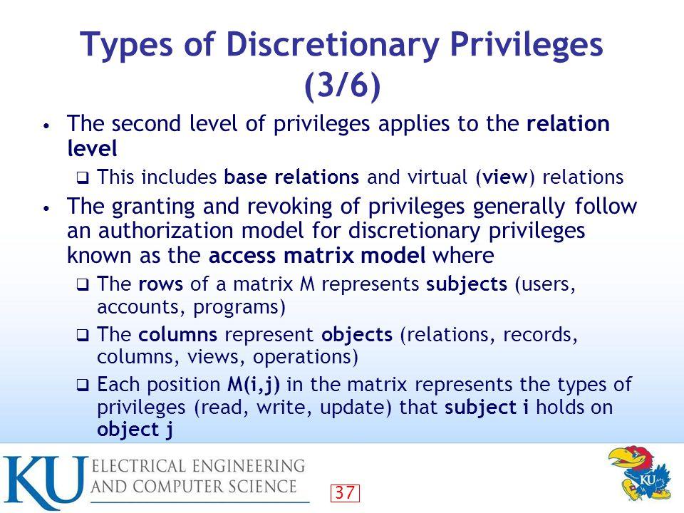 access matrix model in database security pdf