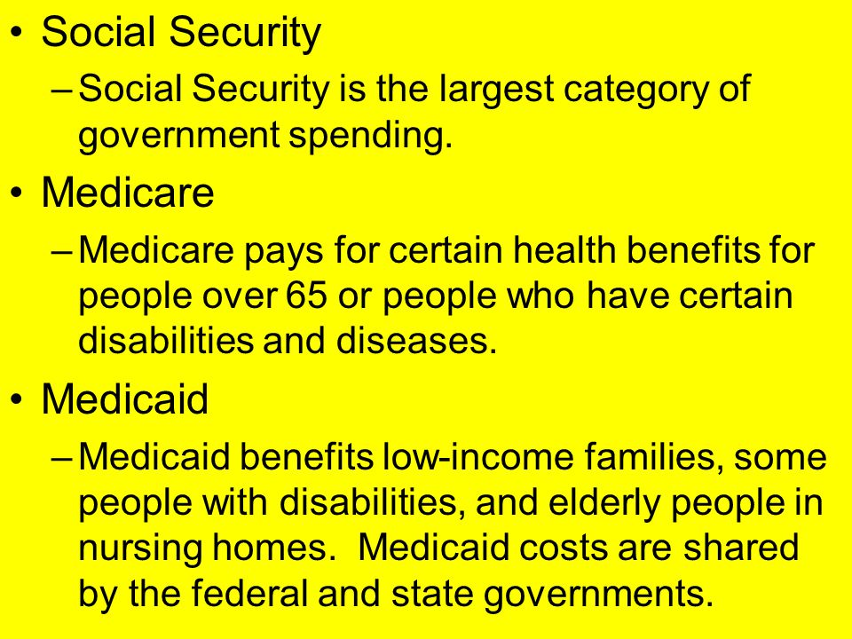 Social Security Medicare Medicaid