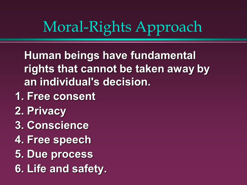 Moral-Rights Approach