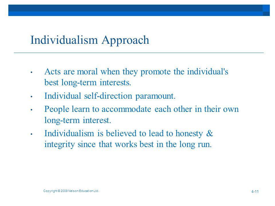 Individualism Approach