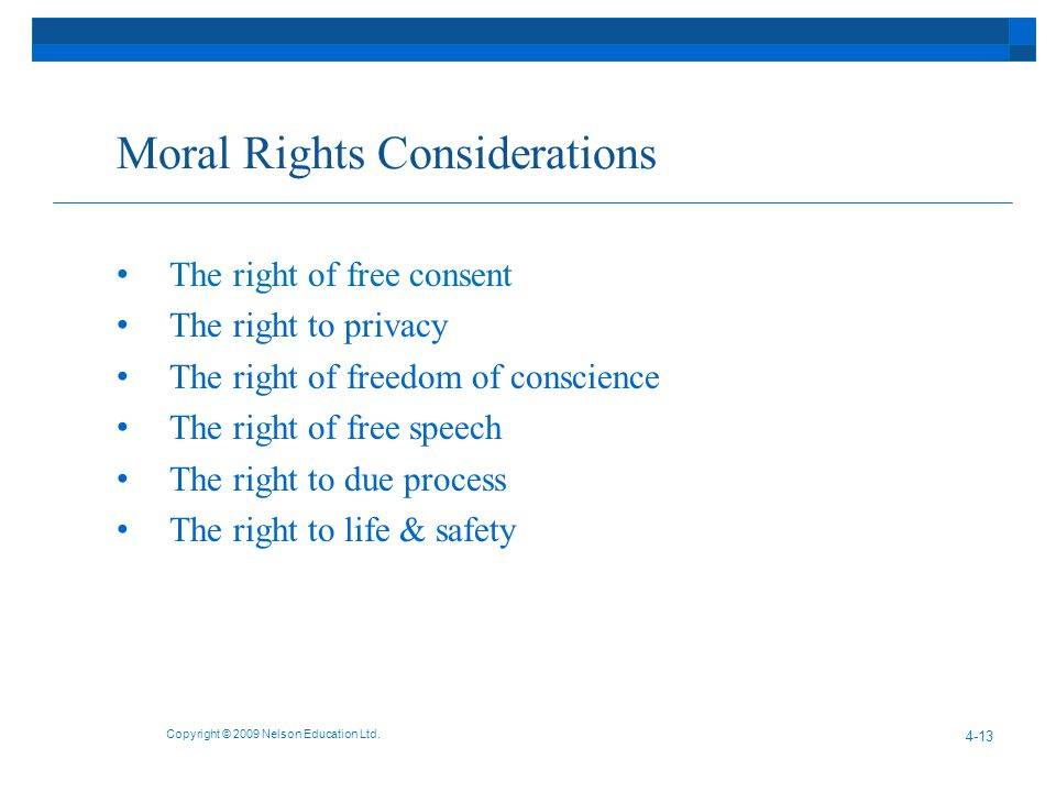 Moral Rights Considerations