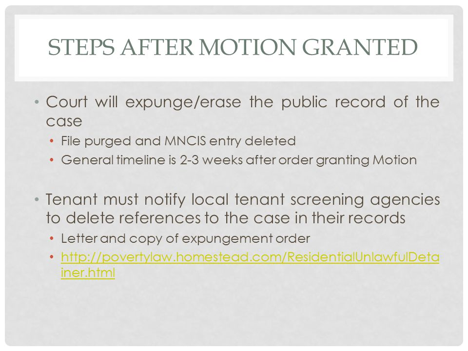 letter of understanding erasing an eviction record ppt 10125