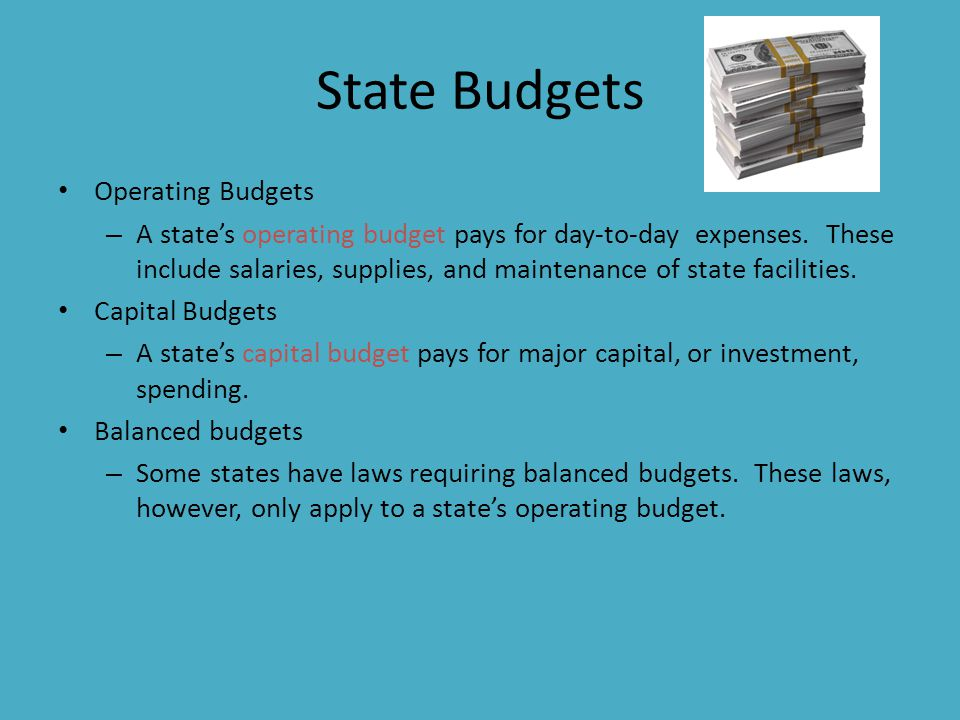 State Budgets Operating Budgets