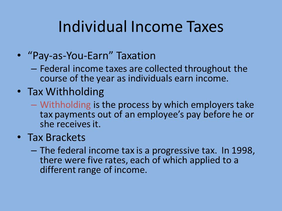 Individual Income Taxes
