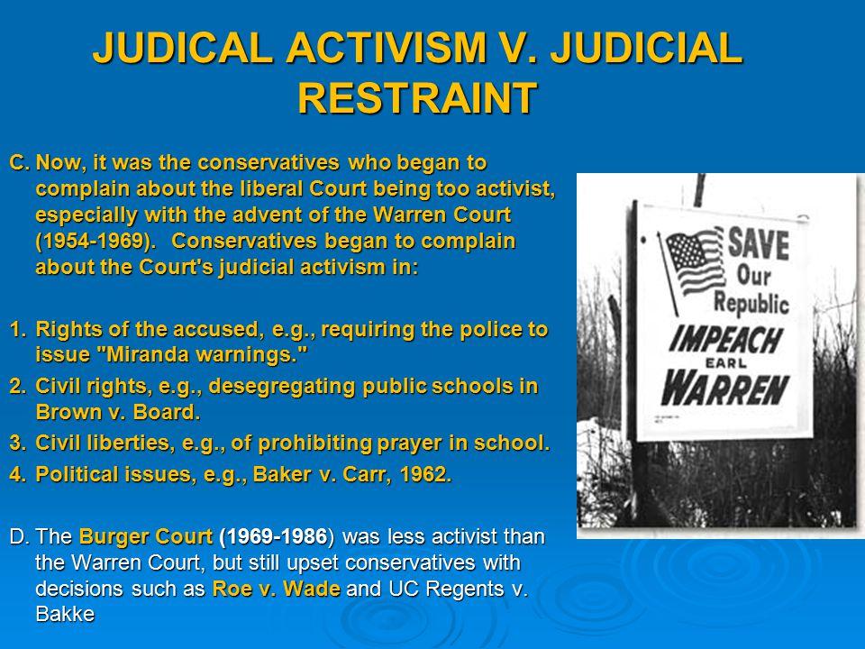 judicial activism examples