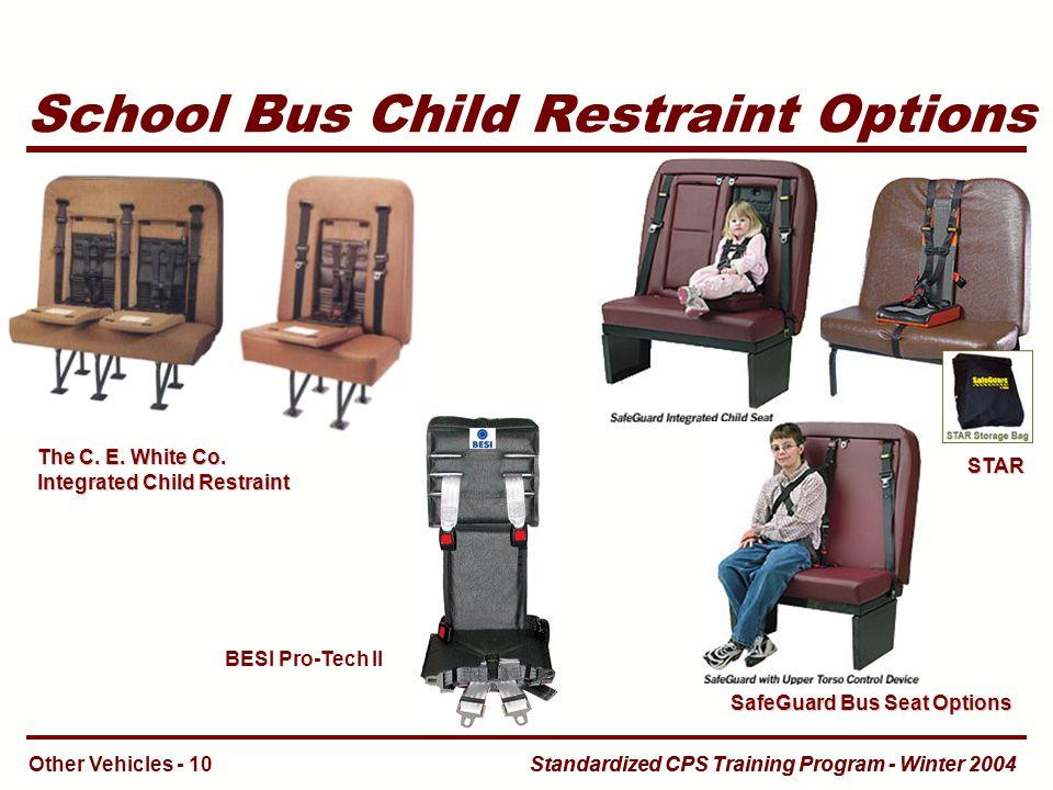 School Bus Child Restraint Options