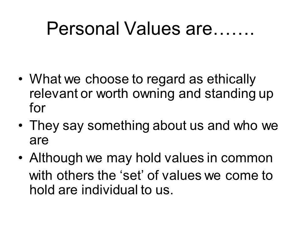 personal values conflict
