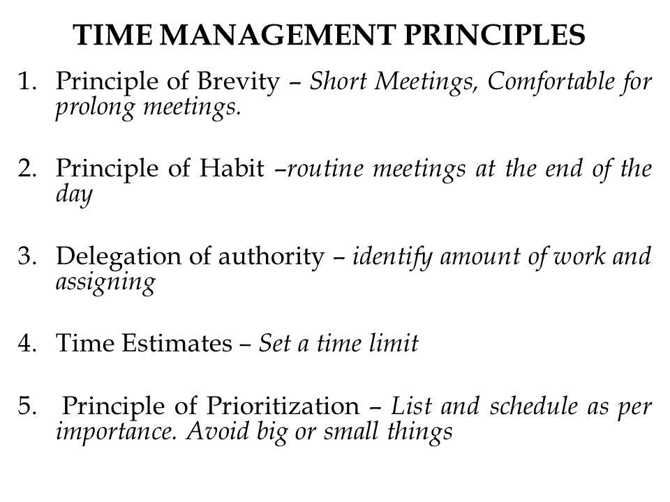 principles of time management pdf