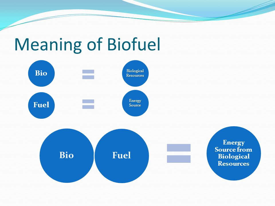 Energy Source from Biological Resources