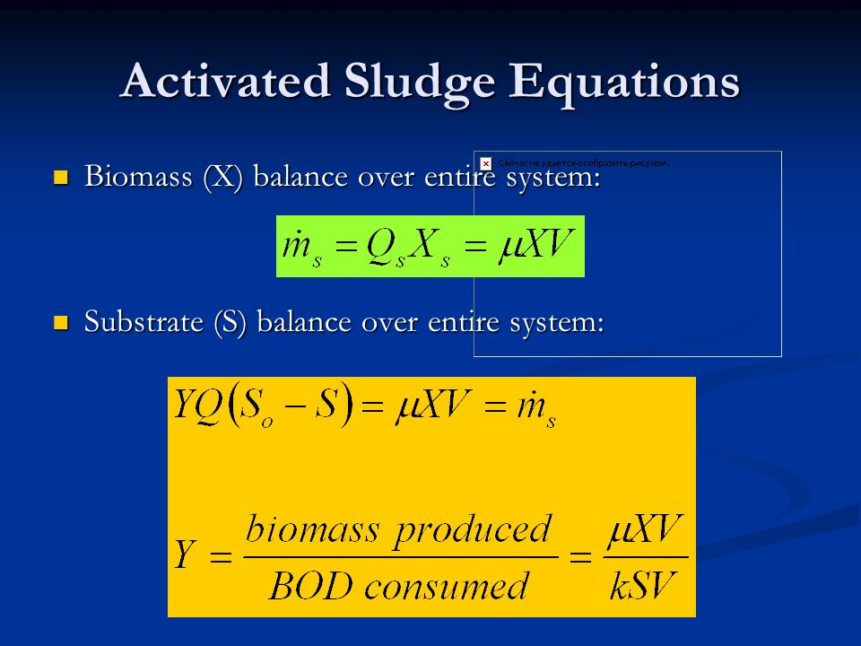 Activated Sludge Equations