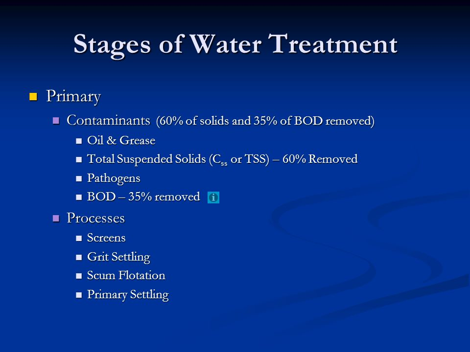 Stages of Water Treatment