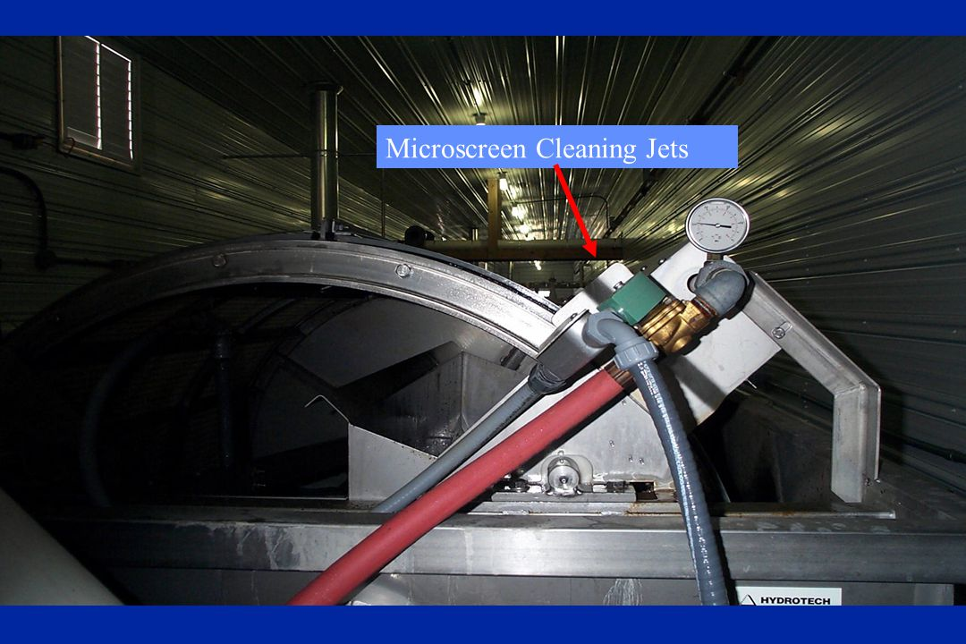 Microscreen Cleaning Jets