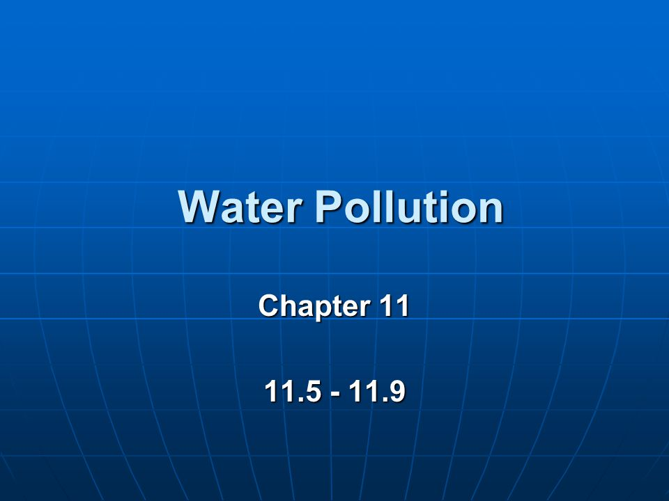 Water Pollution Chapter