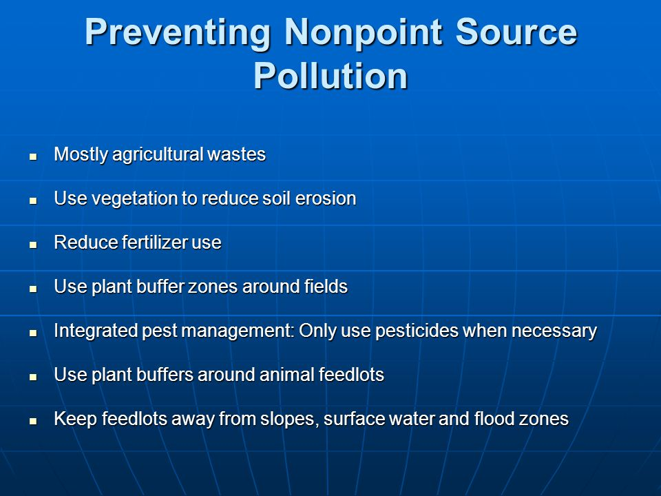Preventing Nonpoint Source Pollution